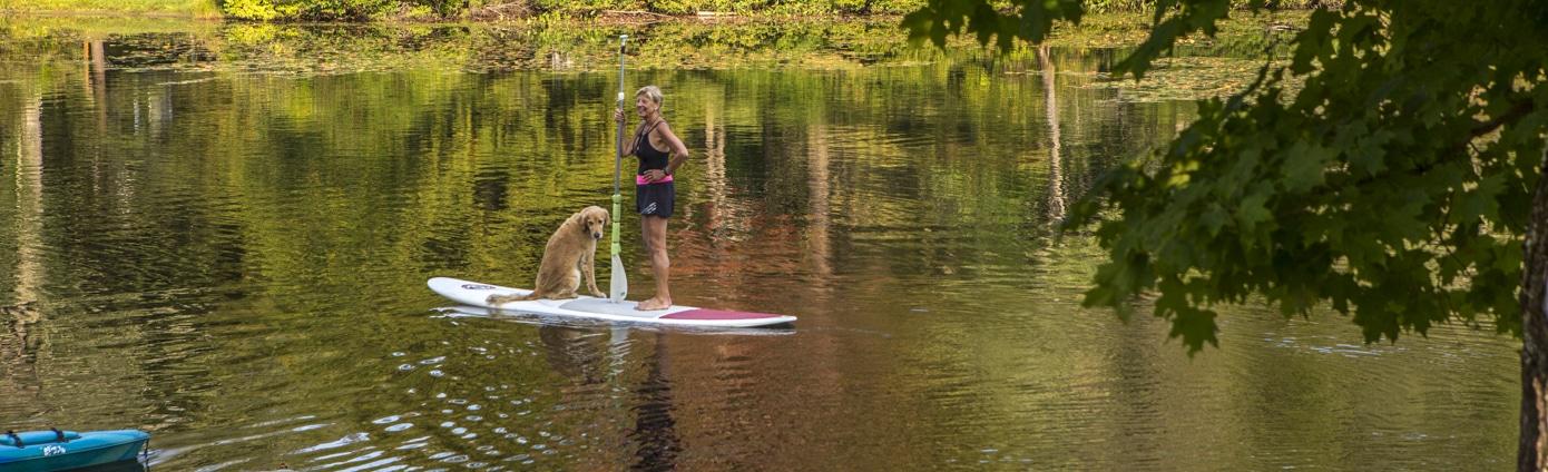 paddle boarding killington vt