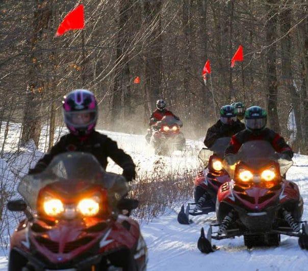 snowmobile killington pico